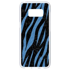 Skin3 Black Marble & Blue Colored Pencil Samsung Galaxy S8 White Seamless Case by trendistuff