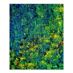 Flowers Abstract Yellow Green Shower Curtain 60  X 72  (medium)
