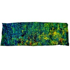 Flowers Abstract Yellow Green Body Pillow Case Dakimakura (two Sides)