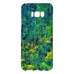 Flowers Abstract Yellow Green Samsung Galaxy S8 Plus Hardshell Case