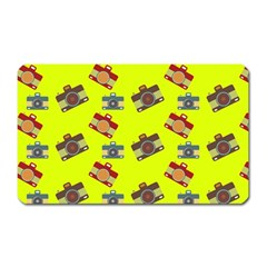 Camera Pattern                Magnet (rectangular) by LalyLauraFLM