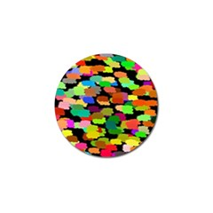 Colorful Paint On A Black Background                 Golf Ball Marker (4 Pack) by LalyLauraFLM