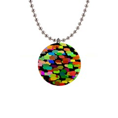 Colorful paint on a black background                 1  Button Necklace