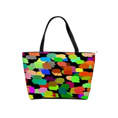 Colorful Paint On A Black Background                 Classic Shoulder Handbag by LalyLauraFLM