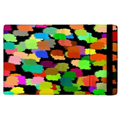 Colorful Paint On A Black Background           Kindle Fire (1st Gen) Flip Case by LalyLauraFLM
