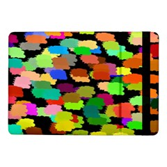 Colorful Paint On A Black Background           Samsung Galaxy Tab Pro 8 4  Flip Case by LalyLauraFLM