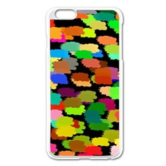 Colorful Paint On A Black Background           Apple Iphone 6/6s Leather Folio Case by LalyLauraFLM