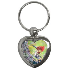 Woodpecker At Forest Pecking Tree, Patagonia, Argentina Key Chains (heart)  by dflcprints