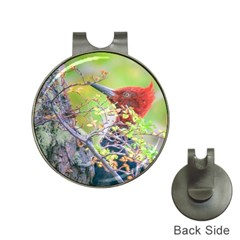 Woodpecker At Forest Pecking Tree, Patagonia, Argentina Hat Clips With Golf Markers by dflcprints