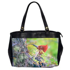 Woodpecker At Forest Pecking Tree, Patagonia, Argentina Office Handbags (2 Sides)  by dflcprints