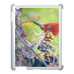 Woodpecker At Forest Pecking Tree, Patagonia, Argentina Apple Ipad 3/4 Case (white) by dflcprints