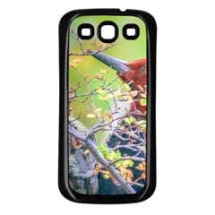 Woodpecker At Forest Pecking Tree, Patagonia, Argentina Samsung Galaxy S3 Back Case (black) by dflcprints