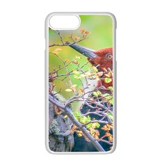 Woodpecker At Forest Pecking Tree, Patagonia, Argentina Apple Iphone 7 Plus White Seamless Case by dflcprints