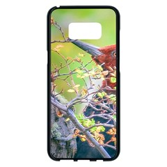 Woodpecker At Forest Pecking Tree, Patagonia, Argentina Samsung Galaxy S8 Plus Black Seamless Case by dflcprints