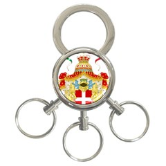 Coat Of Arms Of The Kingdom Of Italy 3 Ring Key Chains by abbeyz71