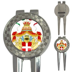 Coat Of Arms Of The Kingdom Of Italy 3 In 1 Golf Divots by abbeyz71