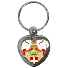 Coat Of Arms Of The Kingdom Of Italy Key Chains (heart)  by abbeyz71
