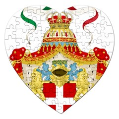 Coat Of Arms Of The Kingdom Of Italy Jigsaw Puzzle (heart) by abbeyz71