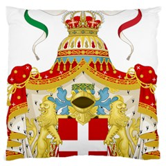 Coat Of Arms Of The Kingdom Of Italy Large Cushion Case (two Sides) by abbeyz71