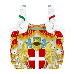 Coat Of Arms Of The Kingdom Of Italy Full Print Recycle Bags (l)  by abbeyz71