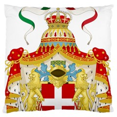Coat Of Arms Of The Kingdom Of Italy Large Flano Cushion Case (one Side) by abbeyz71