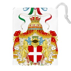 Coat Of Arms Of The Kingdom Of Italy Drawstring Pouches (xxl) by abbeyz71