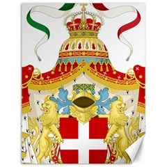 Coat Of Arms Of The Kingdom Of Italy Canvas 12  X 16   by abbeyz71