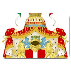 Coat Of Arms Of The Kingdom Of Italy Large Doormat  by abbeyz71