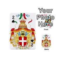 Coat Of Arms Of The Kingdom Of Italy Playing Cards 54 (mini)  by abbeyz71