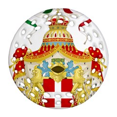 Coat Of Arms Of The Kingdom Of Italy Ornament (round Filigree) by abbeyz71