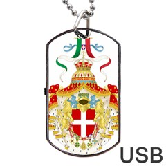Coat Of Arms Of The Kingdom Of Italy Dog Tag Usb Flash (two Sides) by abbeyz71