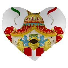 Coat Of Arms Of The Kingdom Of Italy Large 19  Premium Heart Shape Cushions by abbeyz71