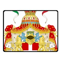Coat Of Arms Of The Kingdom Of Italy Double Sided Fleece Blanket (small)  by abbeyz71