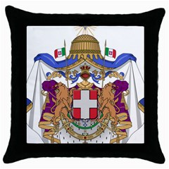 Greater Coat Of Arms Of Italy, 1870 1890  Throw Pillow Case (black) by abbeyz71