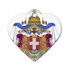 Greater Coat Of Arms Of Italy, 1870 1890  Dog Tag Heart (one Side) by abbeyz71