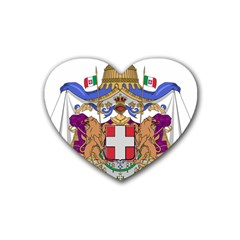 Greater Coat Of Arms Of Italy, 1870 1890 Rubber Coaster (heart)  by abbeyz71