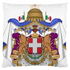 Greater Coat Of Arms Of Italy, 1870 1890 Large Cushion Case (one Side) by abbeyz71