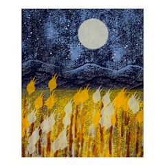 Blue And Gold Landscape With Moon Shower Curtain 60  X 72  (medium)  by theunrulyartist