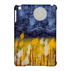 Blue And Gold Landscape With Moon Apple Ipad Mini Hardshell Case (compatible With Smart Cover) by theunrulyartist