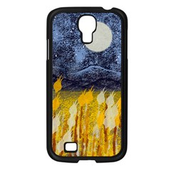 Blue And Gold Landscape With Moon Samsung Galaxy S4 I9500/ I9505 Case (black) by theunrulyartist