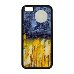 Blue And Gold Landscape With Moon Apple Iphone 5c Seamless Case (black) by theunrulyartist