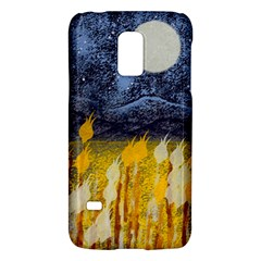 Blue And Gold Landscape With Moon Galaxy S5 Mini by theunrulyartist