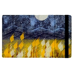 Blue And Gold Landscape With Moon Apple Ipad Pro 9 7   Flip Case by digitaldivadesigns