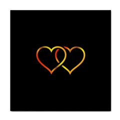 Heart Gold Black Background Love Face Towel by Nexatart