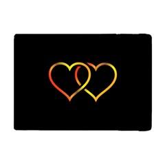 Heart Gold Black Background Love Apple Ipad Mini Flip Case