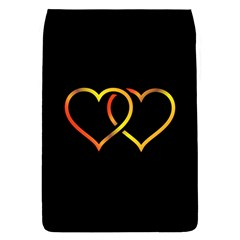 Heart Gold Black Background Love Flap Covers (l)  by Nexatart