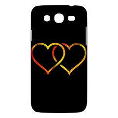 Heart Gold Black Background Love Samsung Galaxy Mega 5 8 I9152 Hardshell Case  by Nexatart