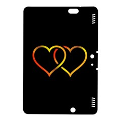 Heart Gold Black Background Love Kindle Fire Hdx 8 9  Hardshell Case