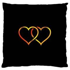 Heart Gold Black Background Love Standard Flano Cushion Case (one Side)