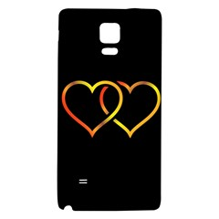 Heart Gold Black Background Love Galaxy Note 4 Back Case